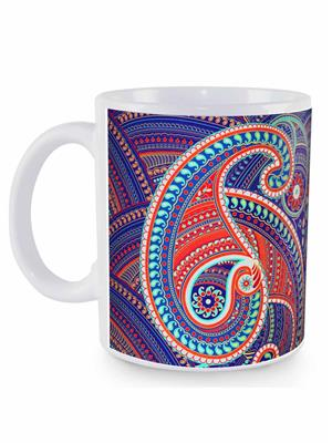 Kolorobia MWPS16 Spledid Paisley  White Mug
