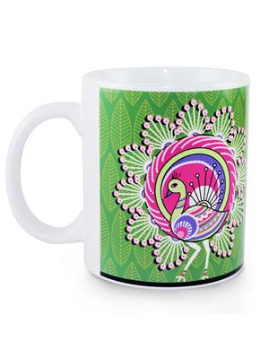 Kolorobia MWW08 Elegant Warli Peacock Mug