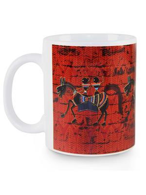 Kolorobia MWW09 Graceful Warli Horse Mug