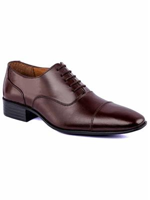 De Scalzo MagicOxfordBR2000  Brown Formal Italian Lace Up Shoes