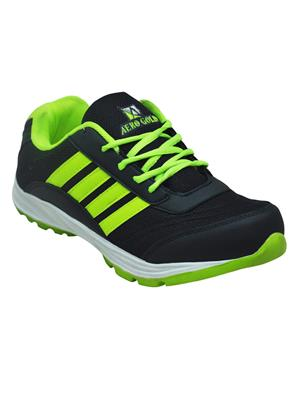 Mansway Aero Black Green 7 Men Sports Shoes