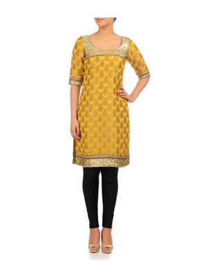 Neelam Arora Nash04 Yellow Women Kurti