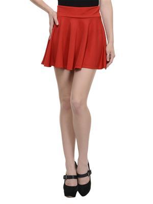 N-Gal NAY110 Red Women Skirt