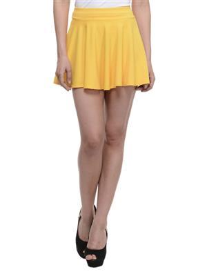 N-Gal NAY110 Yellow Women Skirt