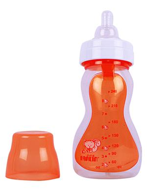 Farlin Nf 902 - Orange Unisex-Baby Silicon  Feeding Bottle 240 Cc