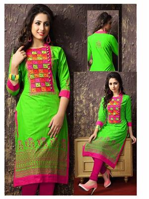 Kavya NG_KEM11 Green Women Kurti