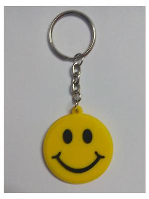 Imported NG_KEY891 Yellow Smiley Key Chain