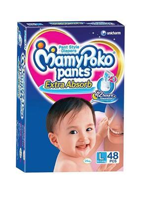 Mamy Poko Pants NG_MPL48 White Diaper