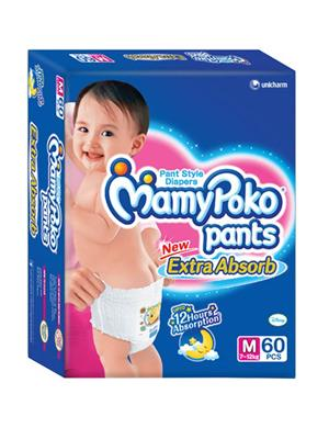 Mamy Poko Pants NG_MPM60 White Diaper