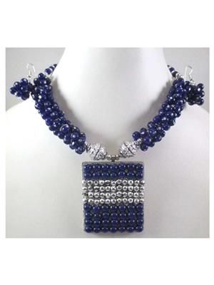 Quail Nks202A Blue Necklace sets