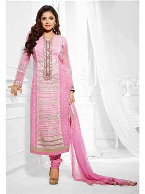 NEHA COLLECTION NP4 Pink Women Dress Material