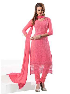 NEHA COLLECTION NP6 Pink Women Dress Material