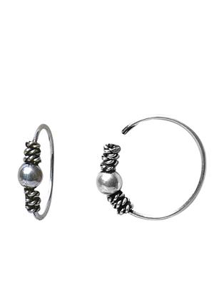 Abhooshan NPS01 Silver Women Nose Rings