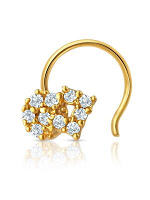 Mahi Fashion Jewellery Enchanted Paradise White Stone Nose Pin