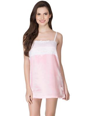 Clovia NS0339P62 Pink Women Night Wear