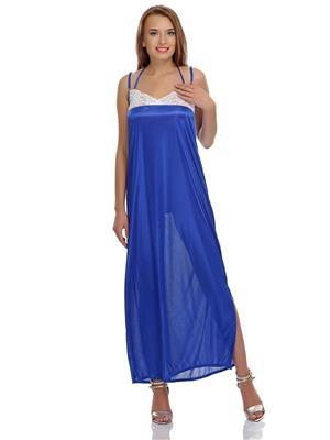 Clovia NS0410P08 Blue Women Night Wear