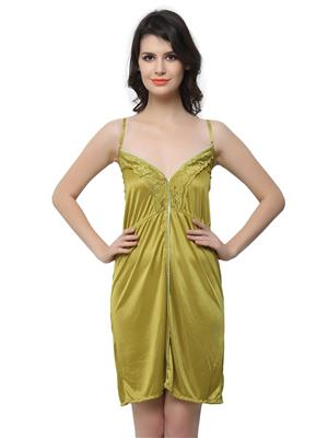 Clovia NS0444P11 Green Women Night Wear