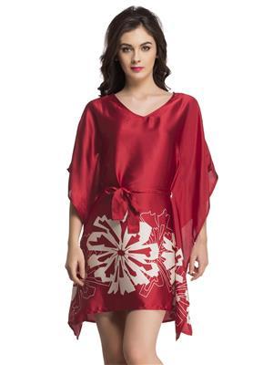 Clovia NS0578P04 Red Women Night Suit