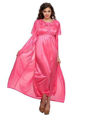 Clovia NSM295G22 Pink Women Night Wear