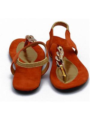 Novelty NV1 Orange Women Sandals