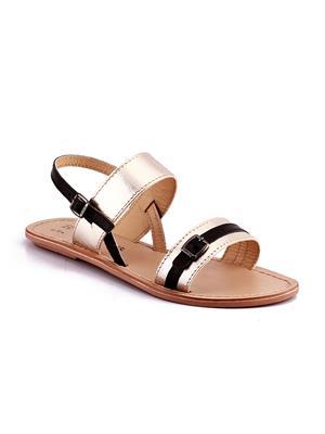 Naughty Walk Nw-701-Gb Golden Women Sandals
