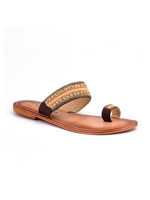 Naughty Walk Nw-708 Brown Women Flats