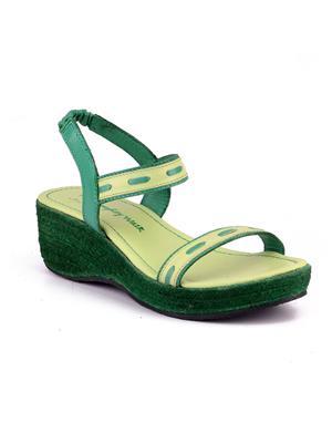 Naughty Walk Nw-712-Lg Light Green Women Wedges