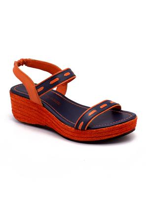 Naughty Walk Nw-712-Ob Orange Women Wedges