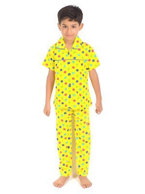 Lilsugar Nwe01 Yellow Boy Night Suit