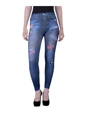 N-Gal Ny2437 Blue Women Leggings