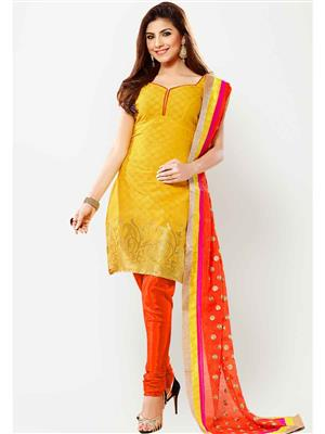 NEHA COLLECTION NY5 Yellow Women Dress Material