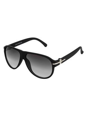 Rafa ORIENT-RBLKGRDGRY Black Unisex Aviator Sunglasses