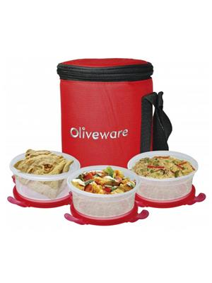 Oliveware Oliveware_ LB_34 Lunch Bag  Designo 3 Container Lunch Box