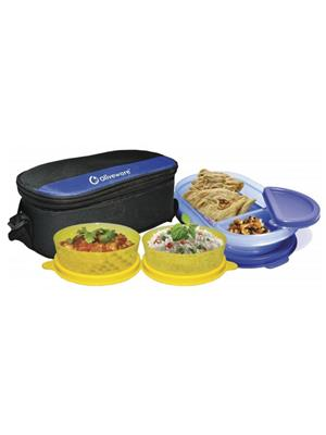 Oliveware Oliveware_  Happy Day Lunch Bag  Happy Day 3 Containers Lunch Box