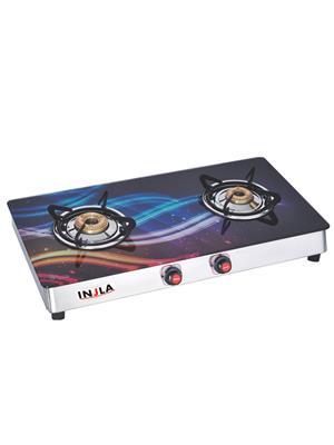 Injla P-211-Lpg2Br Multicolored 2 Burner Gas Stove