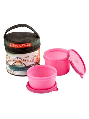 Signoraware P10557 Pink Lunch Box With Bag
