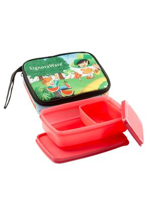 Signoraware P12544 Deep Red Lunch Box