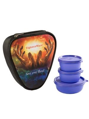 Signoraware P15531 Violet Lunch Box With Bag