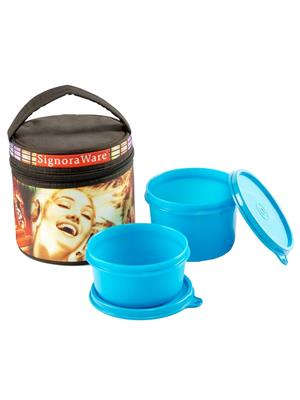 Signoraware P9557 Blue Lunch Box With Bag