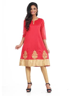 Prapti Pc776-015 Red Women  Kurti