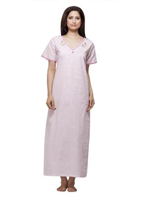 Vedvid PD-PK  Pink Cotton Nighty