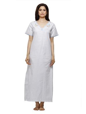 Vedvid PD-TQ  Turquoise Cotton Nighty