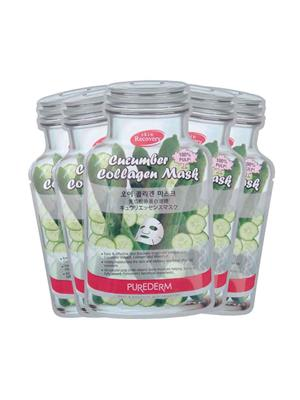 Purederm Pd Cucumber Collagen 05 Face Mask Pack Of 5