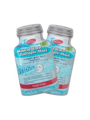 Purederm Pd Mineral Water 02 Collagen Face Mask Pack Of 2