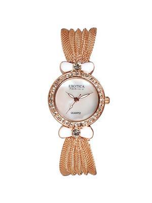 Exotica Fashions  PEL-EFL-25-MOP--White Women Wrist Watch