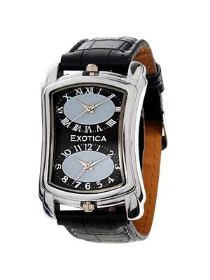 Exotica Fashions  PEL-EX-40DUAL-B Black Men Wrist Watch