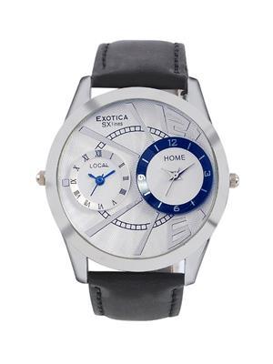 Exotica Fashions  PEL-EX-88-Dual-SW White Men Wrist Watch