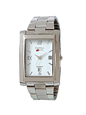 Exotica Fashions  PEL-EXD-64-W White Men Wrist Watch