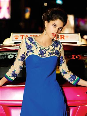 Eternal K-99 Blue Women Kurti
