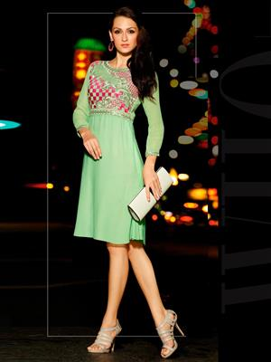 Eternal K-98 Green Women Kurti